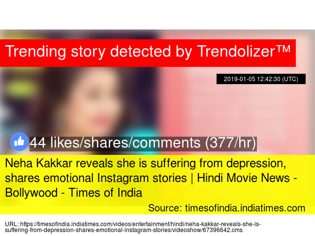 Neha Kakkar reveals she is suffering from depression, shares