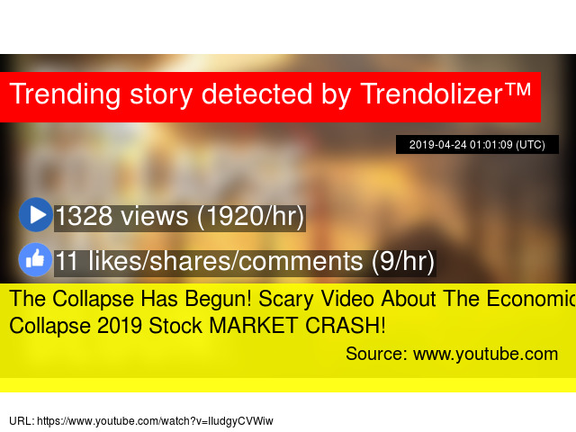 The Collapse Has Begun! Scary Video About The Economic Collapse 2019