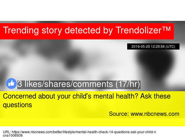 Concerned about your child'