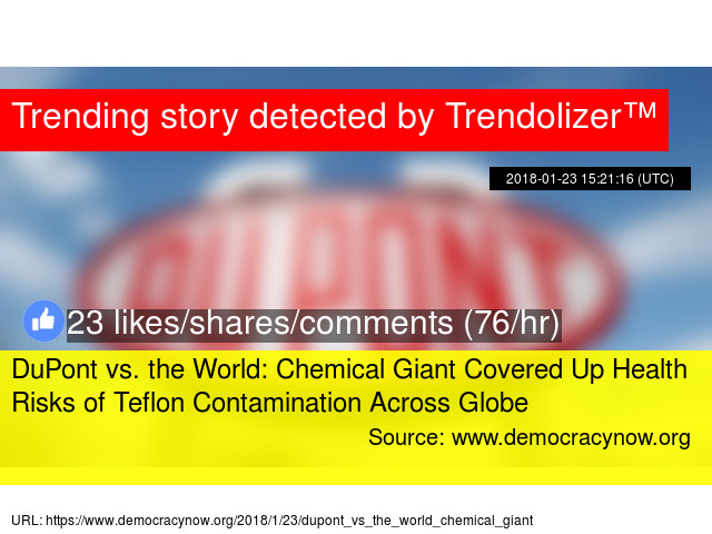 DuPont vs  the World: Chemical Giant Covered Up Health Risks of