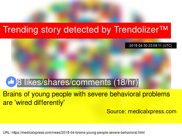 Brains Of Young People With Severe >> Brains Of Young People With Severe Behavioral Problems Are Wired