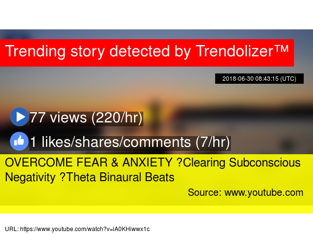 OVERCOME FEAR & ANXIETY ☯ Clearing Subconscious Negativity ☯ Theta